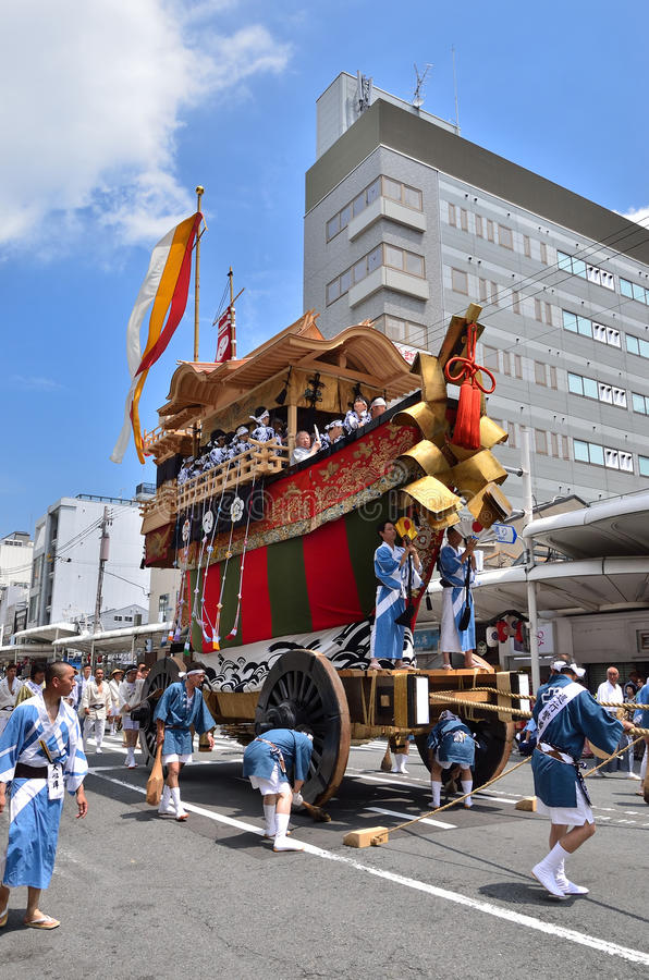 Parade of Gion festival, Kyoto Japan in summer. stock image