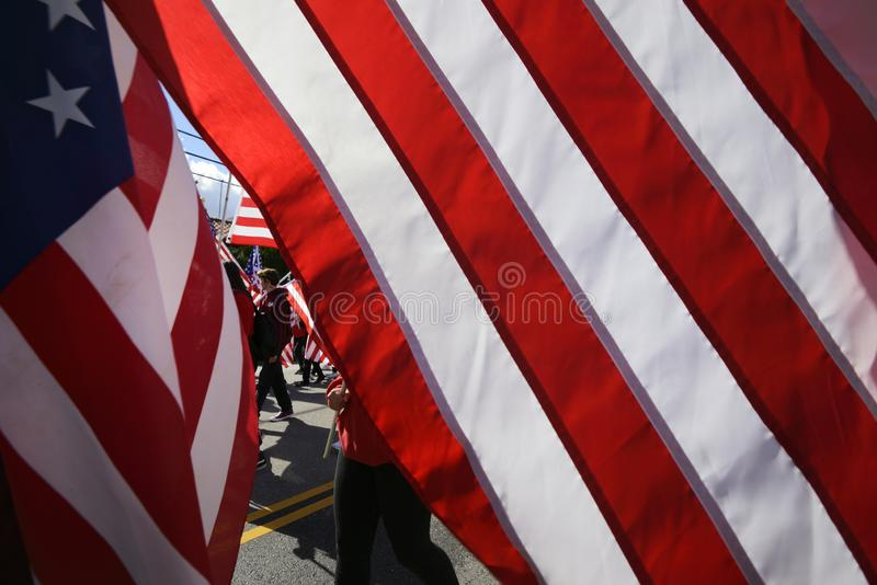 United States Flags royalty free stock images