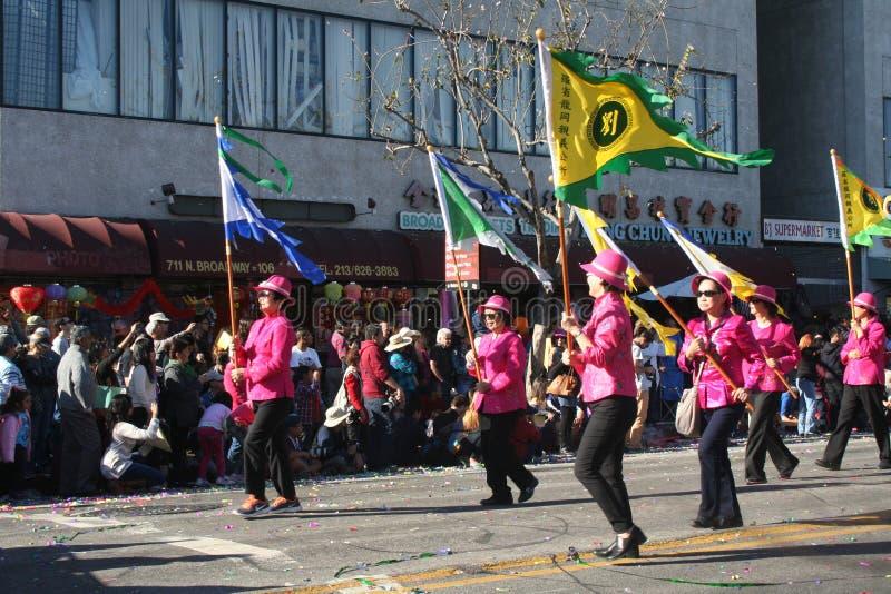Parade Marchers stock foto's