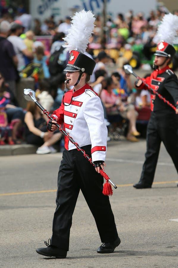 Parade Marching Band Woman royalty free stock photo