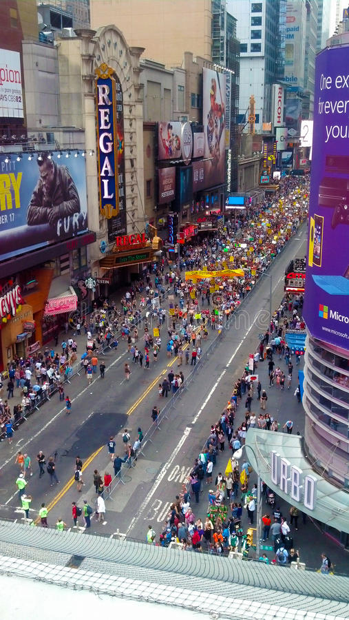 Parade on 42nd Street, New york royalty free stock photo