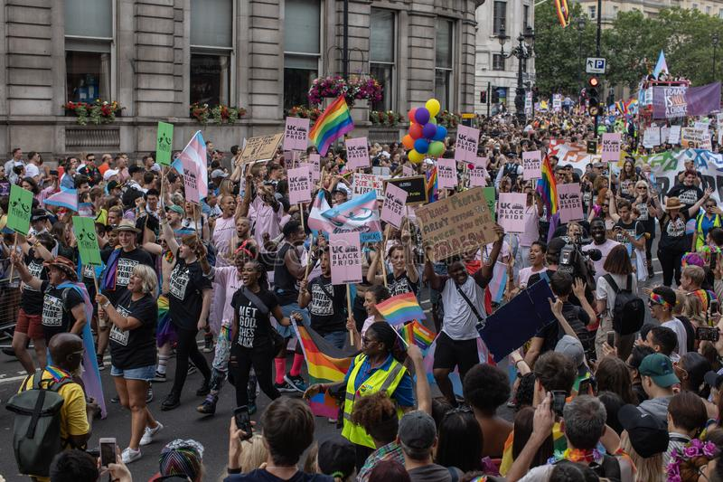 London Pride 2019 royalty free stock photography