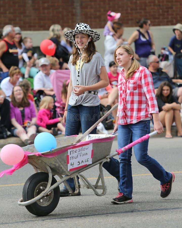 Parade Pooper-Scooper Volunteers stock image