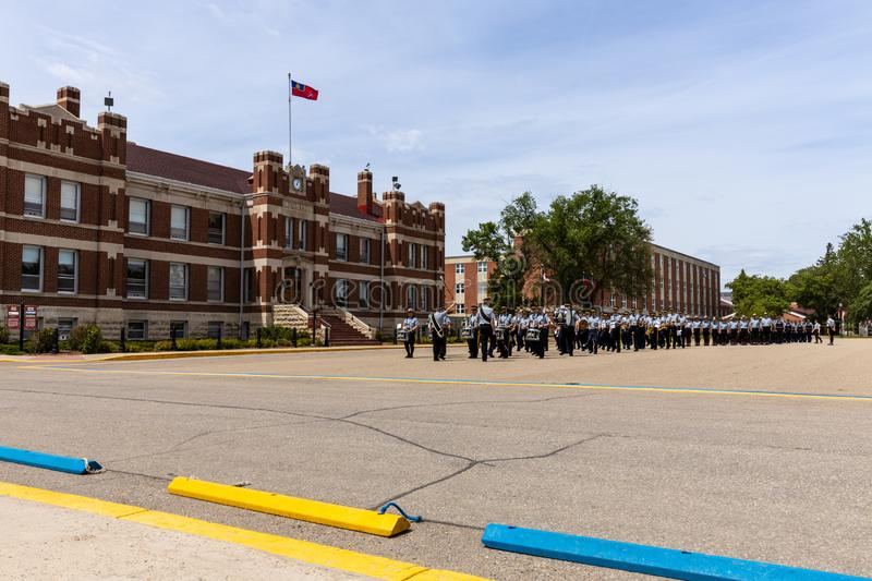 Parade of RCMP in Regina Canada. 06. June 2019 royalty free stock photography