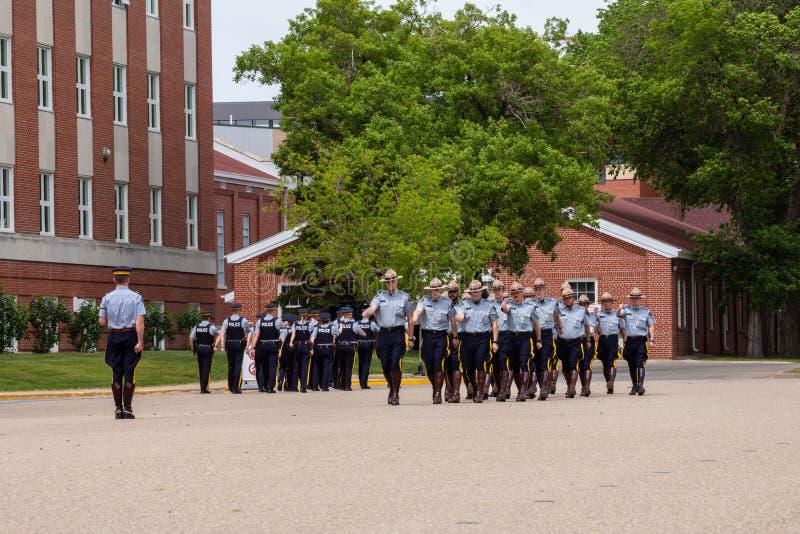 Parade of RCMP in Regina Canada. The Parade of RCMP in Regina Canada royalty free stock photo
