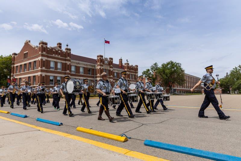 Parade of RCMP in Regina Canada. 06. June 2019 stock photo