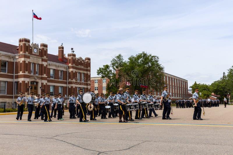 Parade of RCMP in Regina Canada. 06. June 2019 stock image