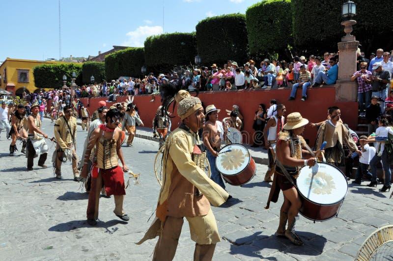 Parade at San Miguel de Allende stock photos