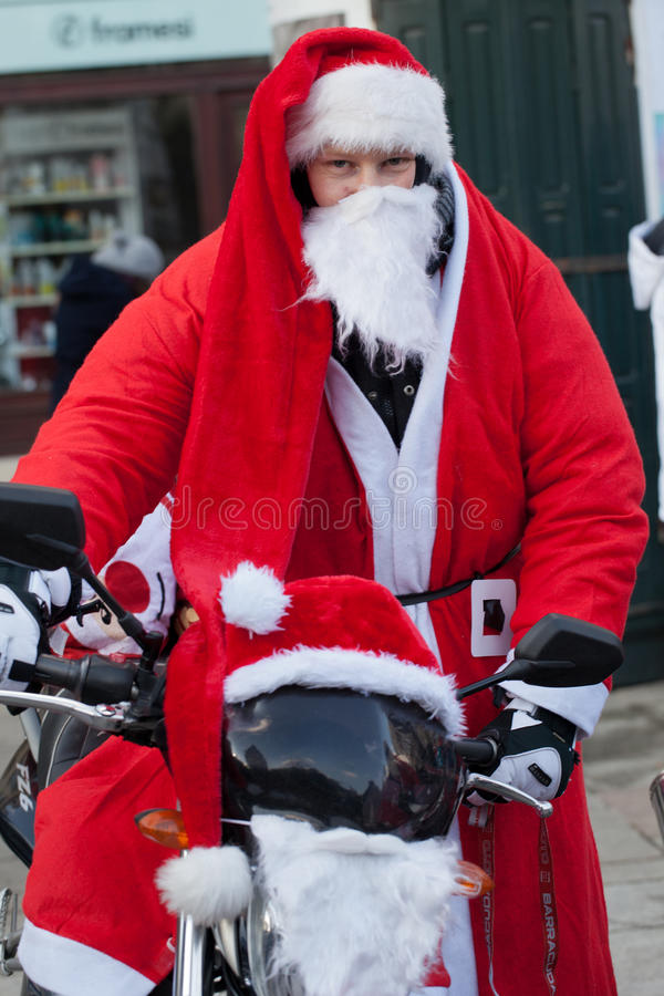 Download The Parade Of Santa Clauses On Motorcycles Around The Main Market Square In Cracow Editorial Photo - Image of care, annual: 35854596