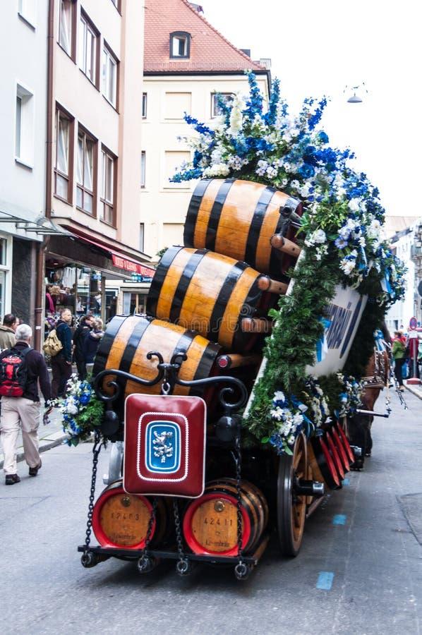 Parade van de gastheren van Wiesn royalty-vrije stock afbeelding