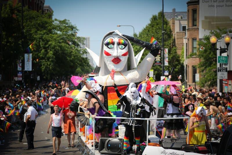 Parade van de Trots van Chicago de Vrolijke stock foto