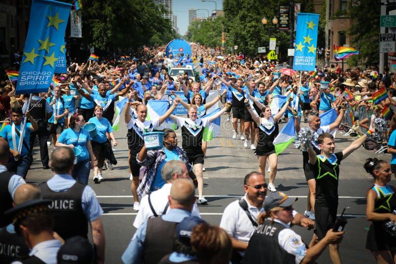 Parade van de Trots van Chicago de Vrolijke stock afbeelding