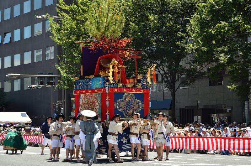 Parade van Gion-festival, Kyoto Japan stock foto