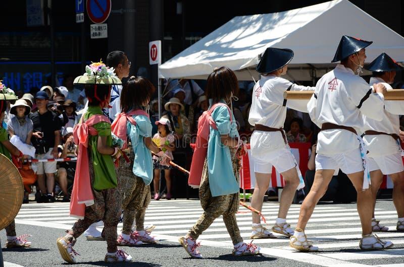 Parade von Gions-Festival, Kyoto Japan lizenzfreies stockfoto
