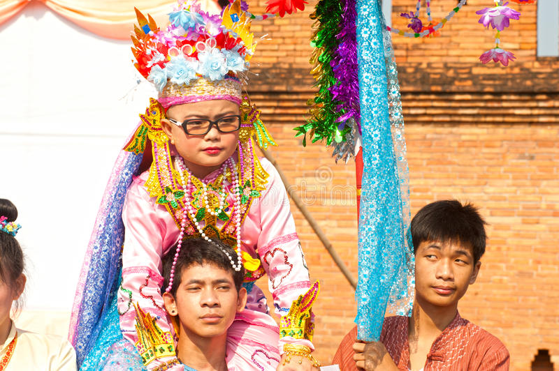 Download Parades Of Poy-Sang-Long Festival In Northern Of Thailand. Editorial Stock Image - Image: 31491299