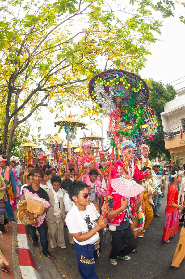 Download Parades Of Poy-Sang-Long Festival In Northern Of Thailand. Editorial Stock Image - Image: 31492499