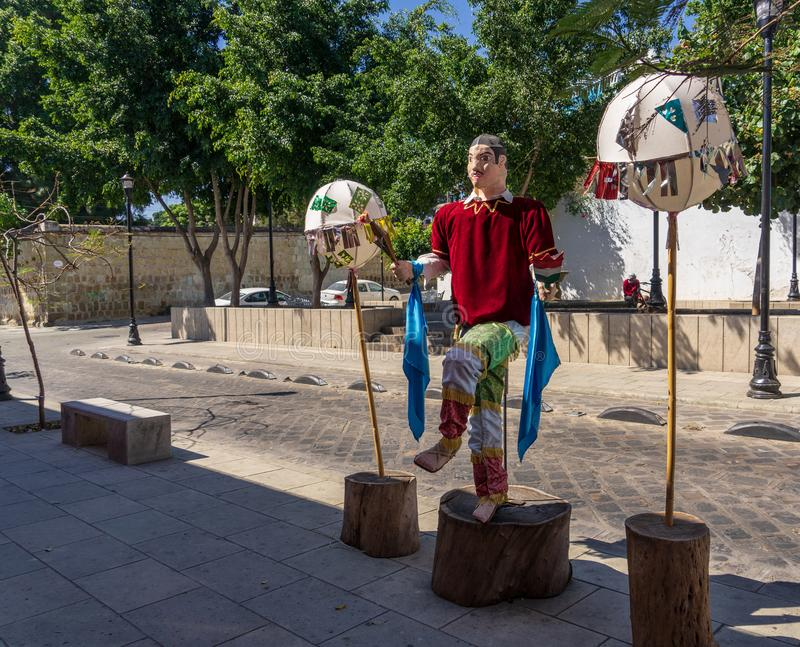 Paradevoorbereiding in Oaxaca, Mexico royalty-vrije stock afbeelding