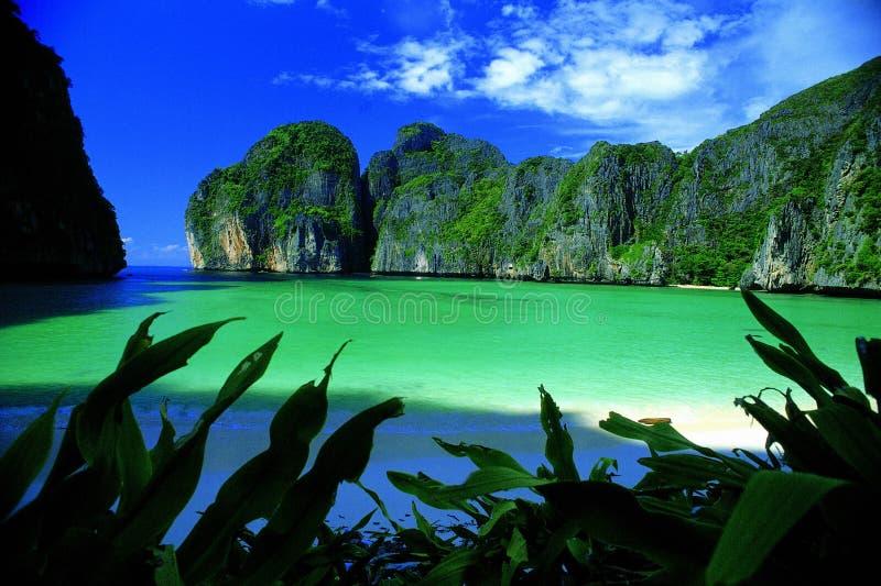 Paradies im Phi-Phi stockfoto