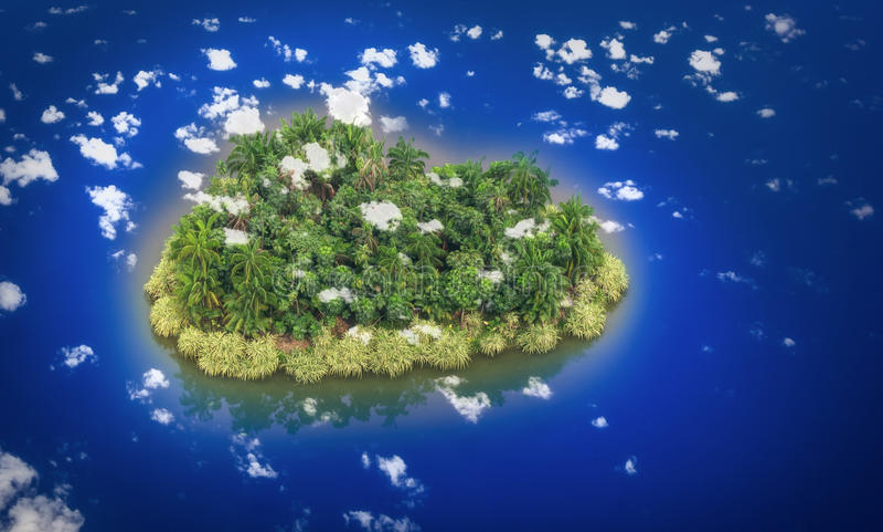 Paradies-Insel lizenzfreie abbildung