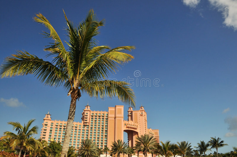 Paradies-Insel Atlantis-Bahamas stockbilder