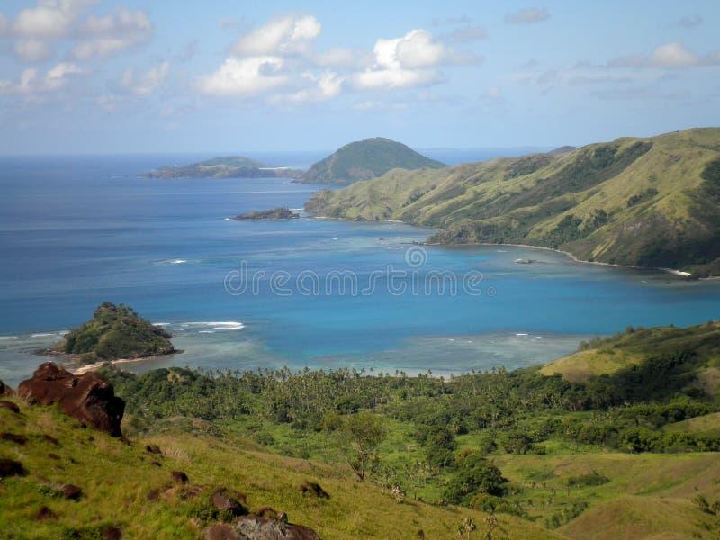 Paradies-Insel in Fidschi stockfotografie