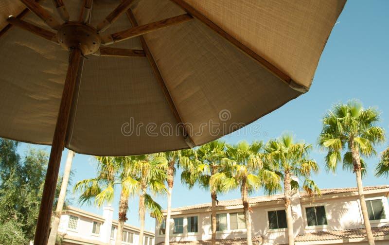 Paradies-Regenschirm-Rücksortierung stockfoto