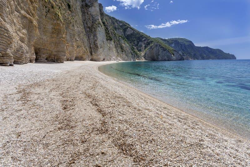 Paradies-Strand auf Korfu-Insel, Griechenland lizenzfreie stockfotos