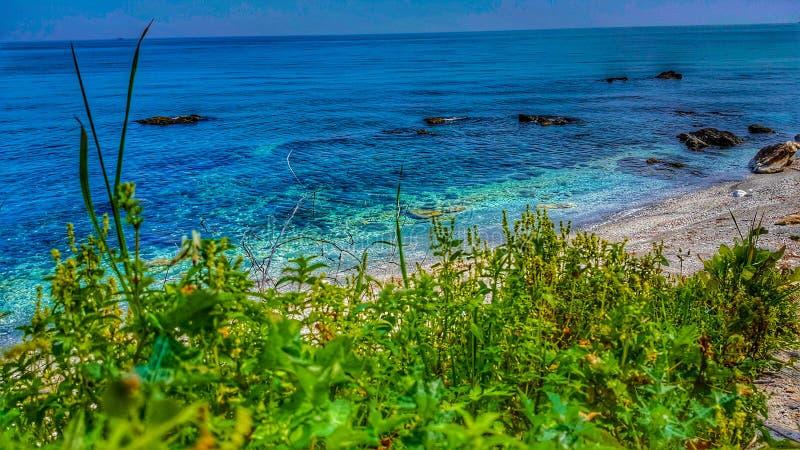 Paradies-Strand bei Velika Griechenland stockbild
