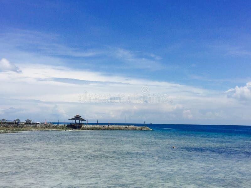 Paradiesinsel in Davao stockfoto