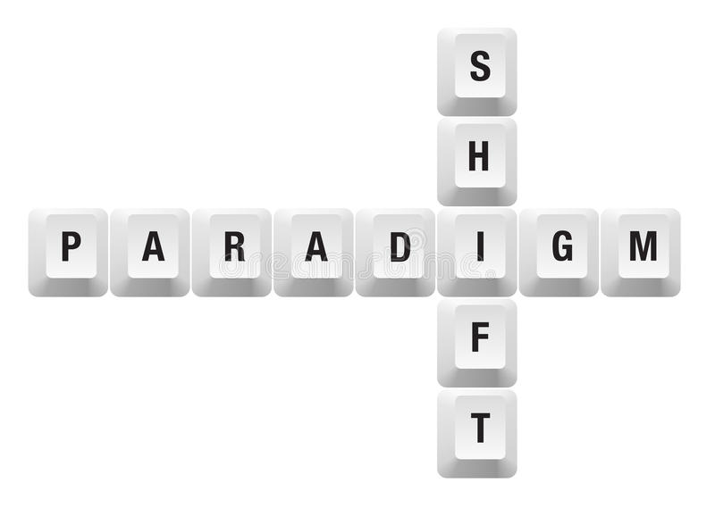 Paradigm shift key vector illustration
