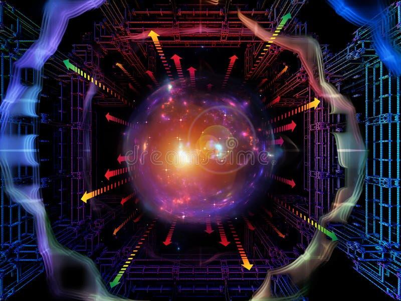 Paradigma del espacio de Quantum stock de ilustración