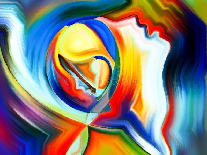 Paradigma van Heilige Tinten stock afbeeldingen