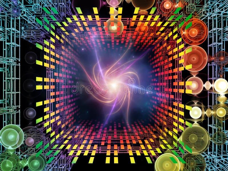 Paradigma van Quantumruimte royalty-vrije illustratie
