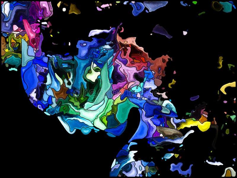 Paradigme de fragmentation d'individu illustration de vecteur