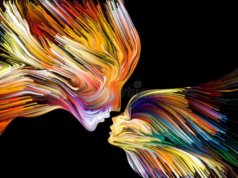 Paradigme de la peinture d'esprit illustration stock