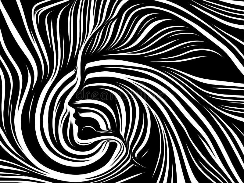 Paradigme des lignes intérieures illustration stock