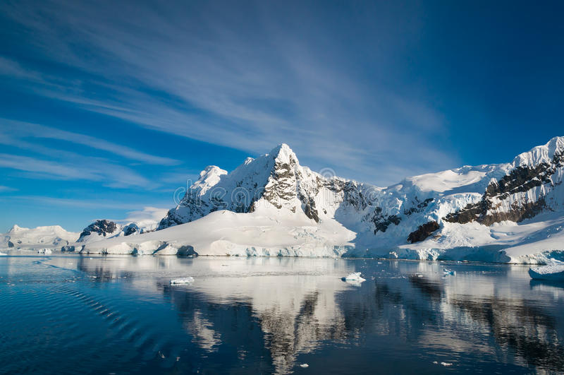 Paradijsbaai Antarctica stock foto