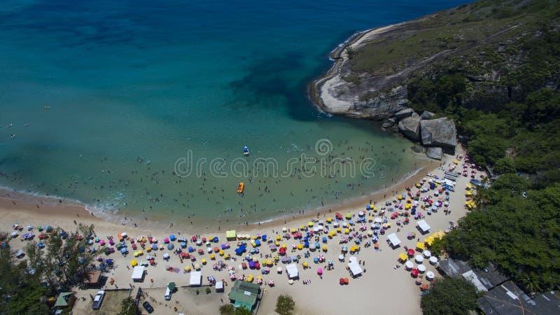 Paradijsstrand, mooi strand, prachtige stranden rond de wereld, Grumari-strand, Rio de Janeiro, Brazilië, Brazilië van Zuid-Ameri royalty-vrije stock afbeeldingen