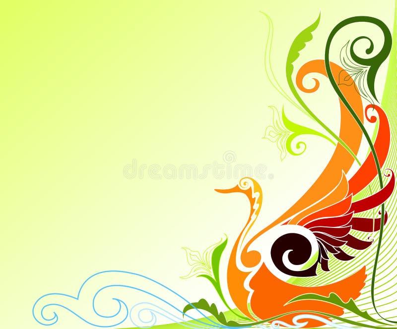 Paradijsvogel stock illustratie