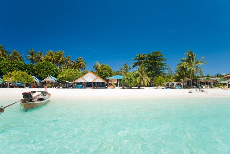 Paradis blanc Ko Lipe de plage de sable photographie stock libre de droits