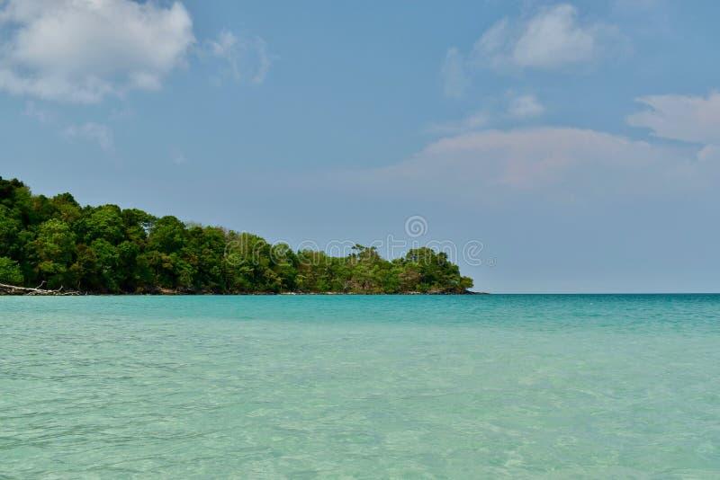 Paradis Cambodge d'île de Koh Rong image stock