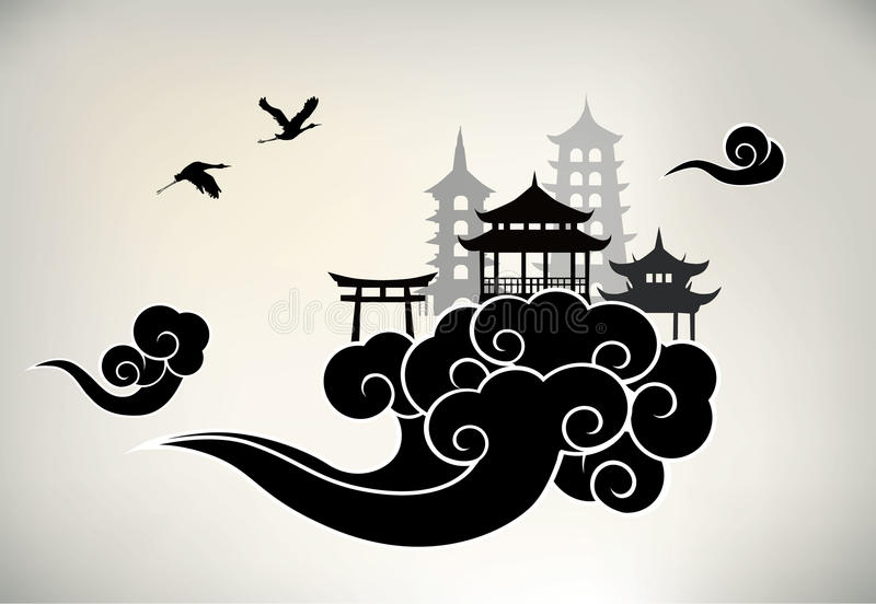 Paradis chinois illustration stock