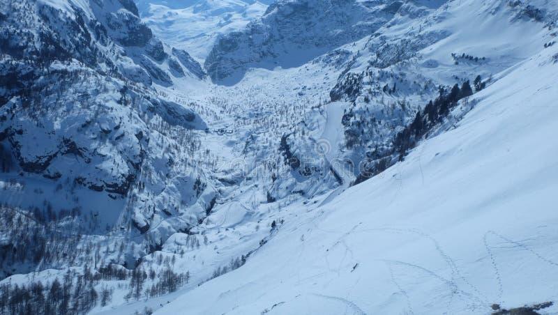 paradis de glacier de Matterhorn photo stock