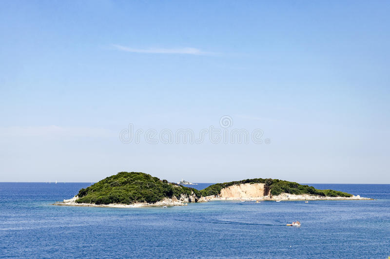 Paradis de l'Île déserte images libres de droits