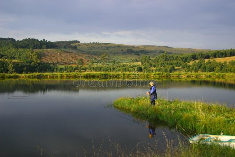 Paradis de pêche image libre de droits