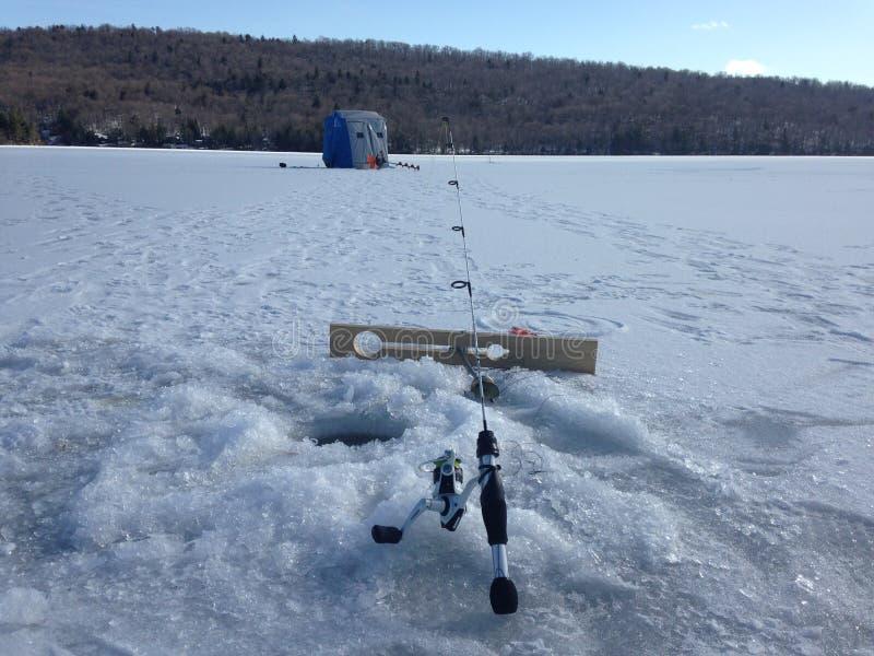 Paradis de pêche de glace photos libres de droits