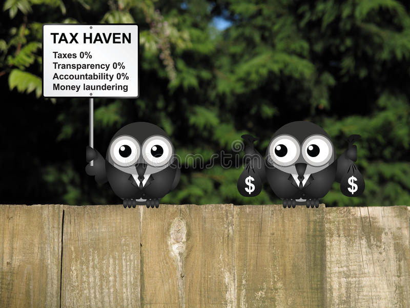 Paradis fiscal illustration stock