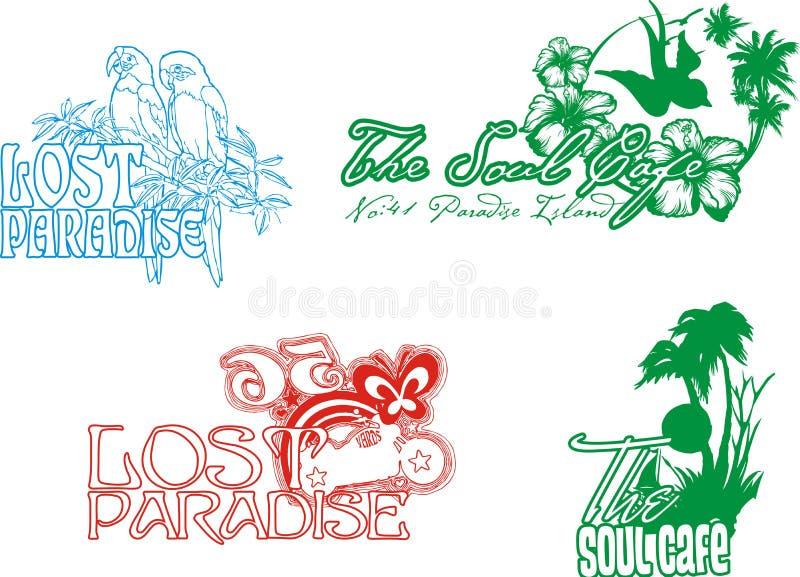 Paradis tropical illustration de vecteur