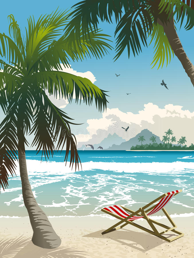 Paradis tropical illustration libre de droits