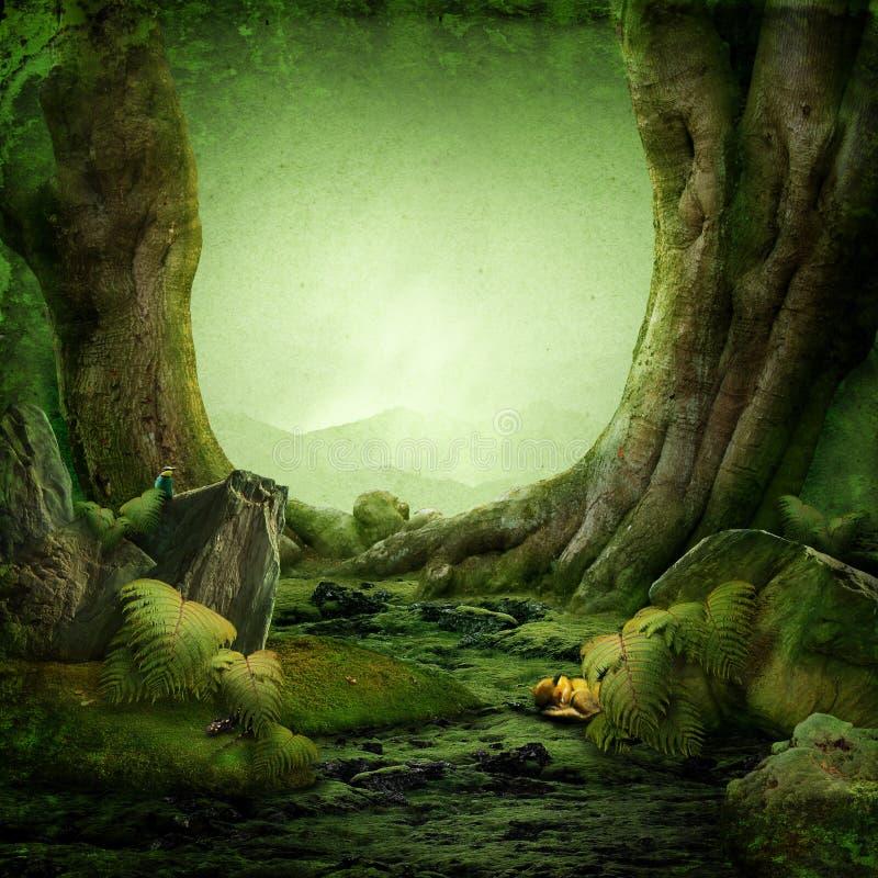 Paradis vert photo libre de droits